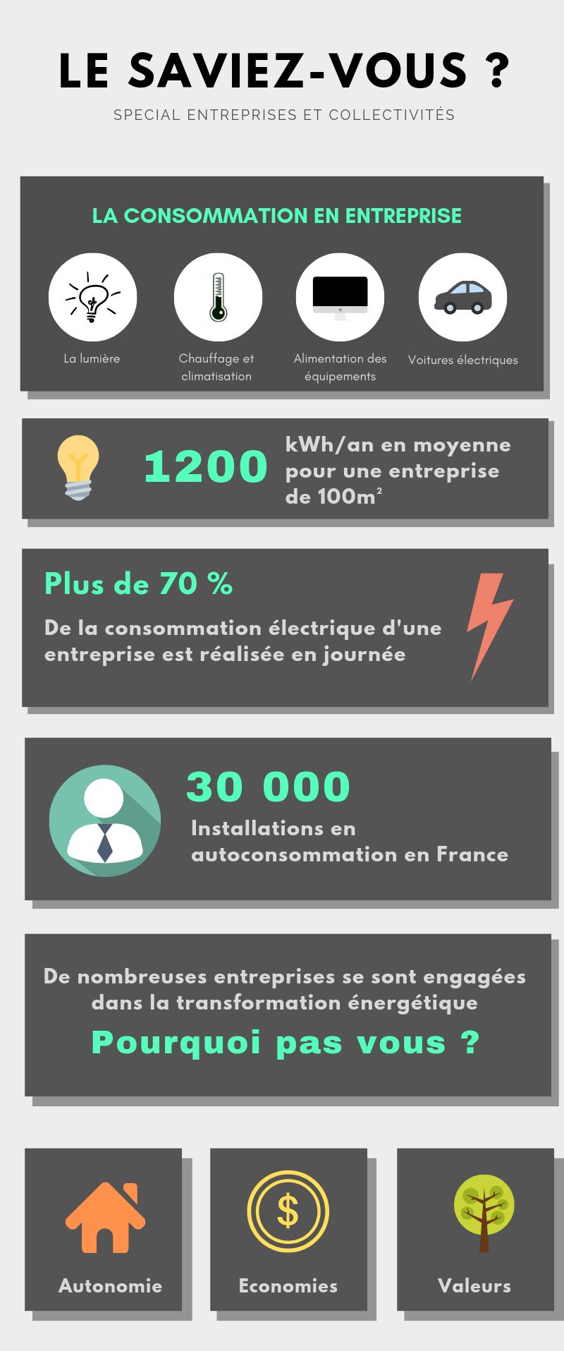 infographie consommation énergie entreprise le saviez vous