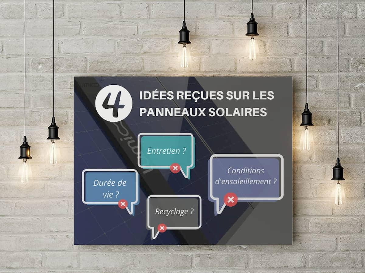 Read more about the article 4 idées reçues sur les panneaux solaires photovoltaïques