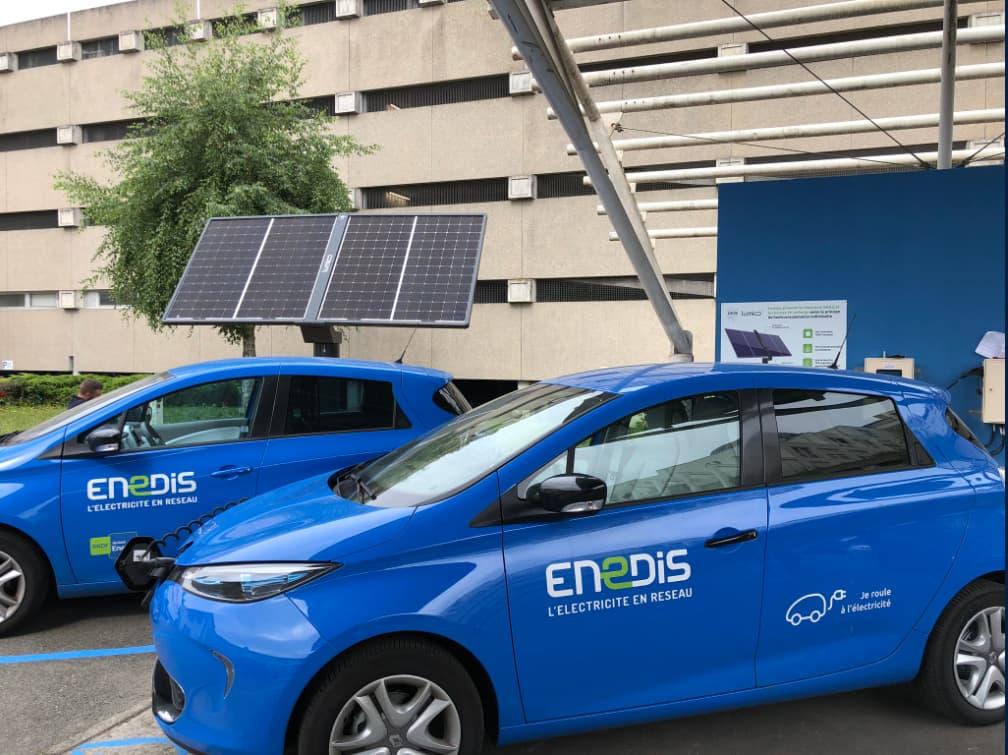Recharge voiture electrique avec autoconsommation solaire Smile Nantes