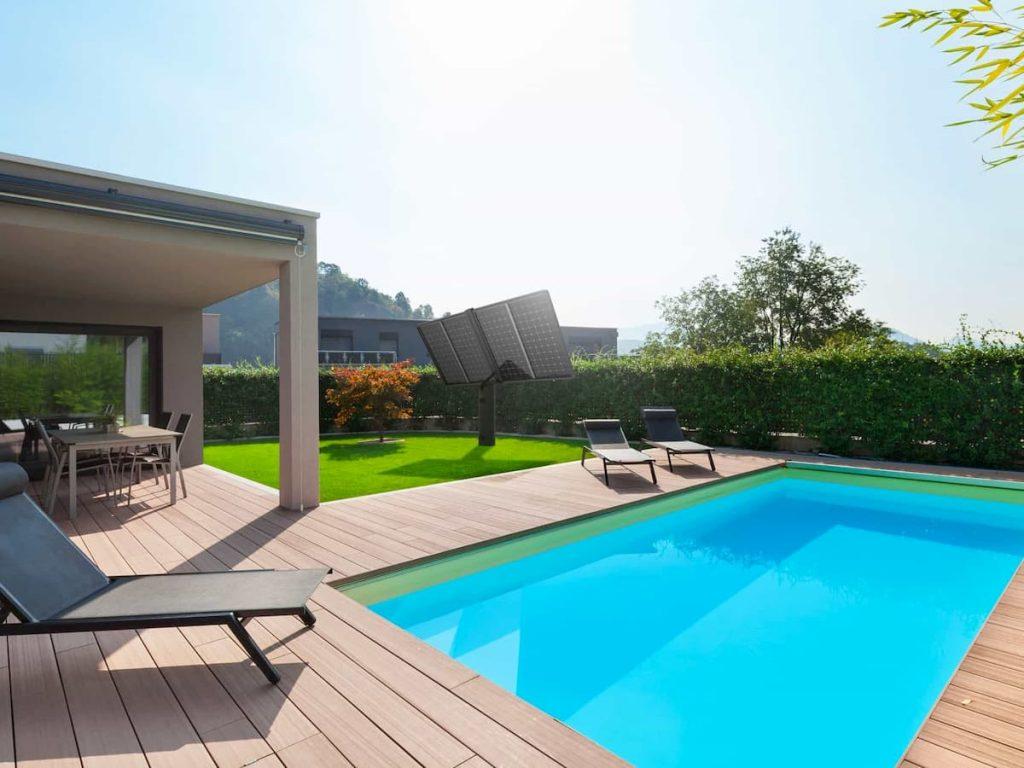Un tracker solaire Lumioo pour chauffer sa piscine