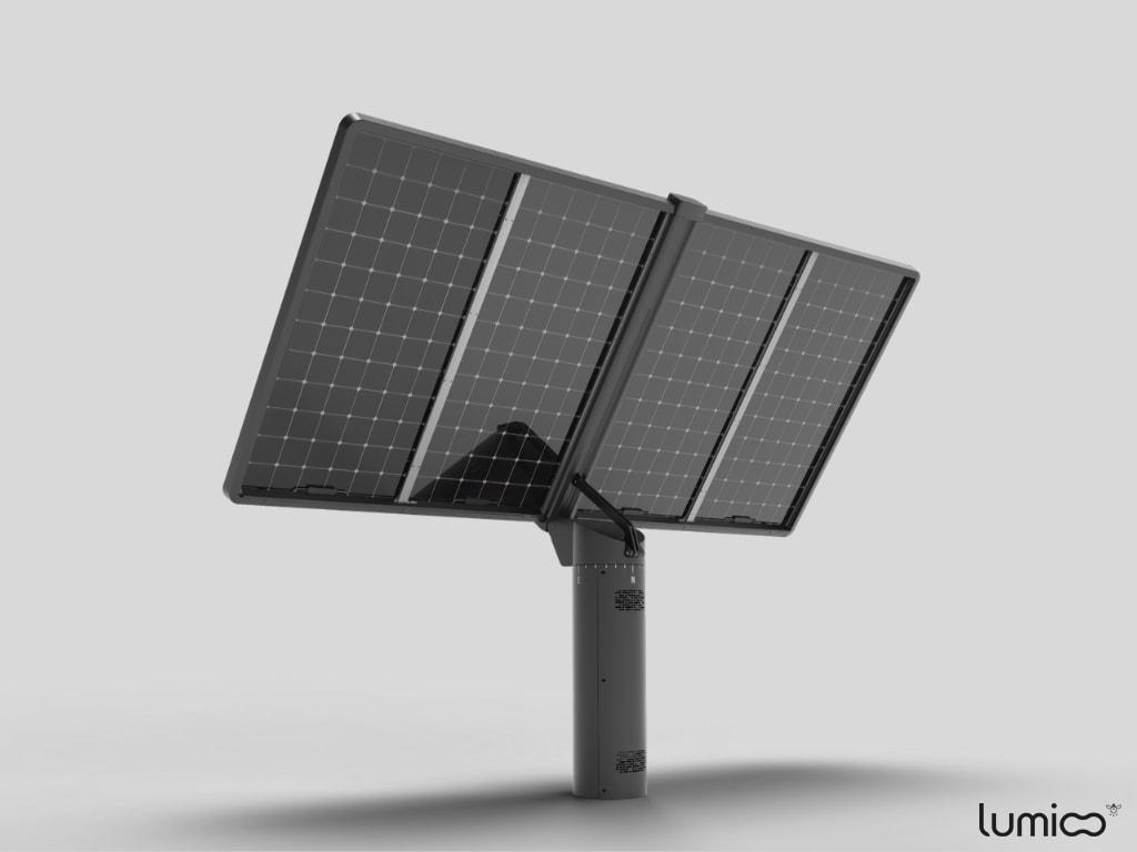 Tracker solaire Lumioo technologie biface