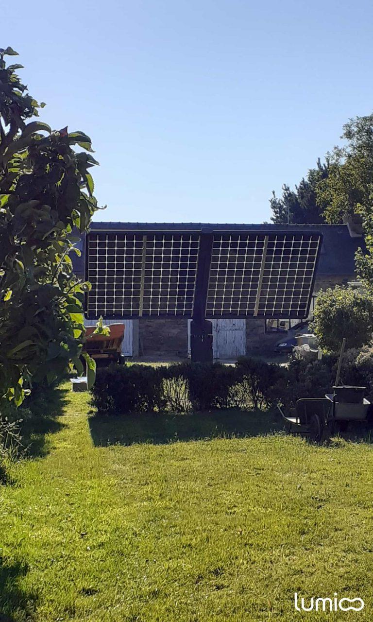 tracker solaire 2 axes 4 panneaux Lumioo