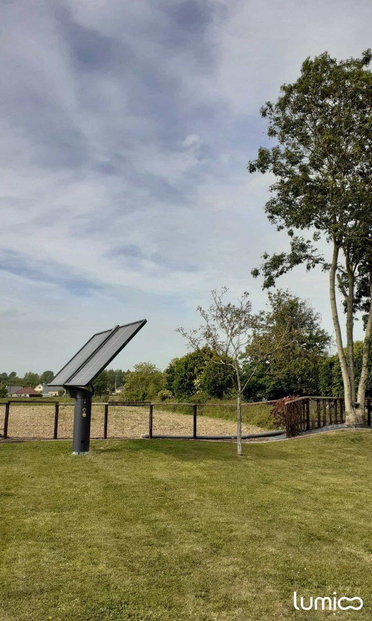 tracker solaire 2 axes lumioo panneaux qui suivent le soleil