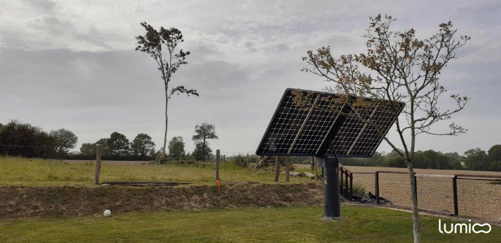 suiveur solaire 2 axes Lumioo pour autoconsommation solaire