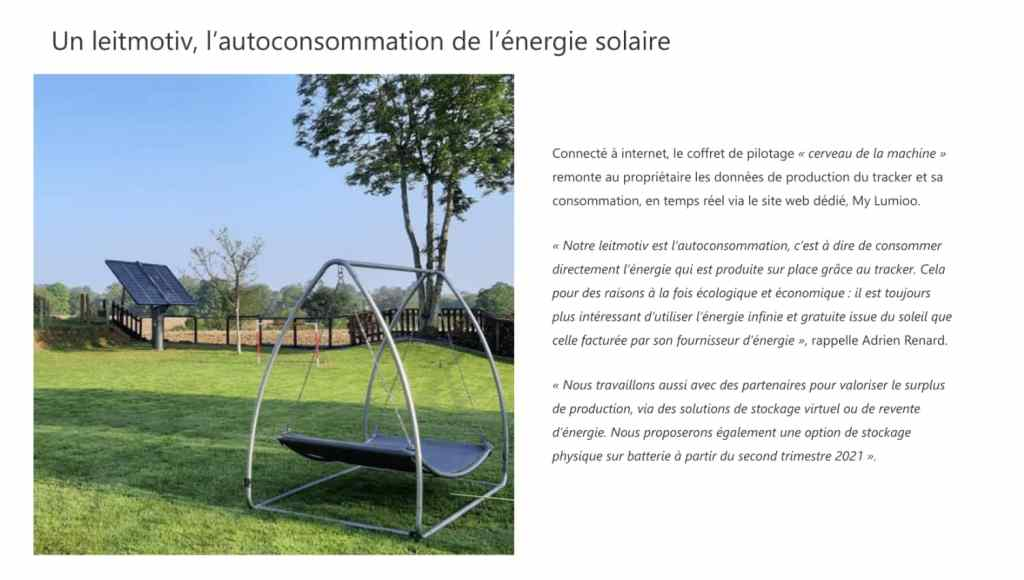 Le tracker solaire Lumioo dans Architecture Bois Magazine page 3