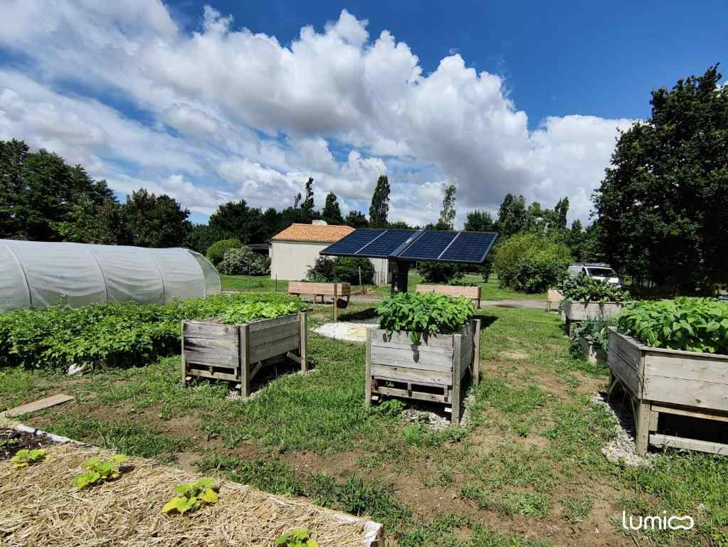 Tracker solaire et potager d'Olivier J. client Lumioo